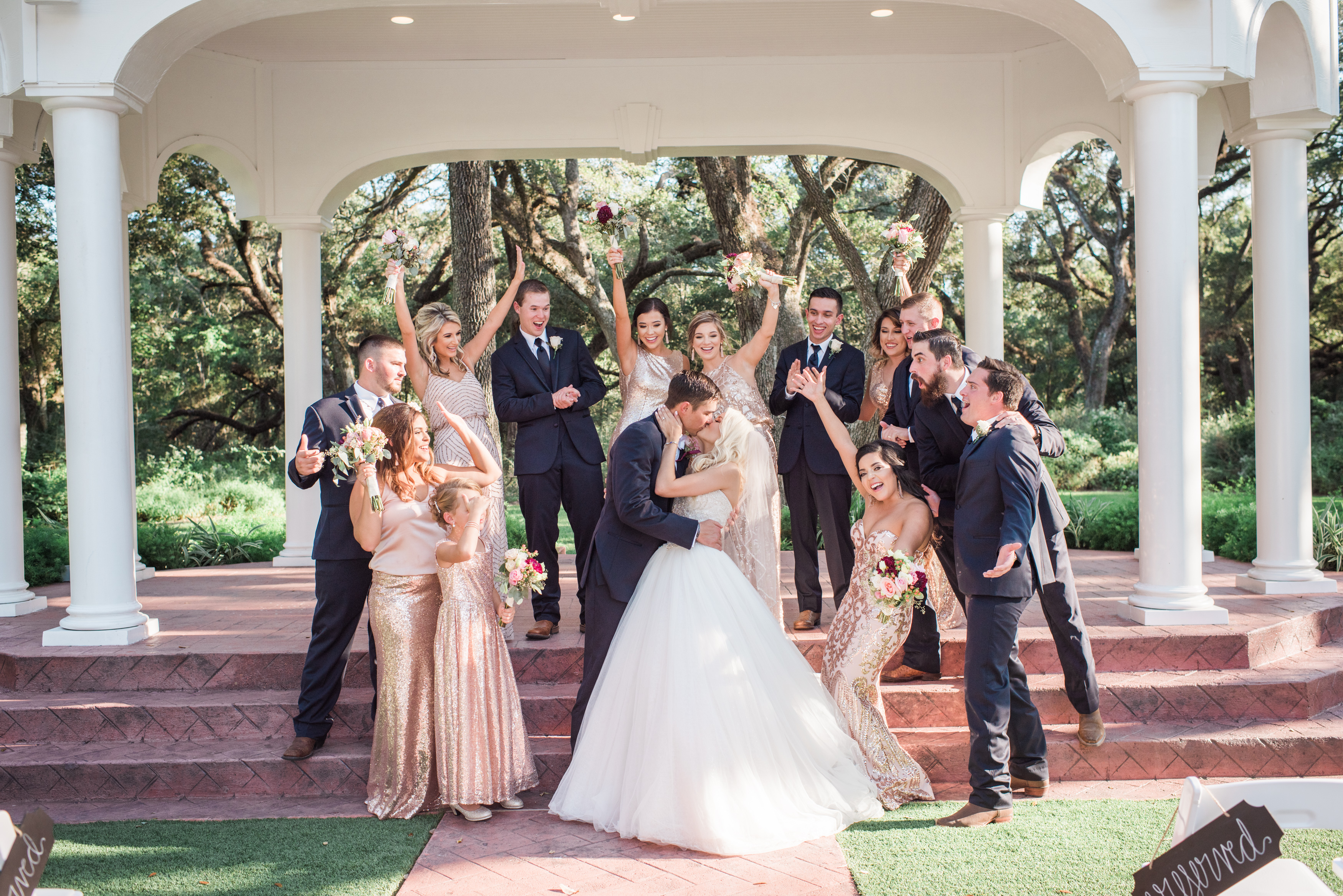Photo of wedding party at The Springs Event venue in Houston